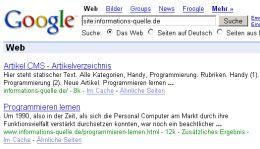 Google Site Search für informations-quelle.de